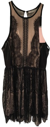 Three floor Fashion Black Lace Dress for Women