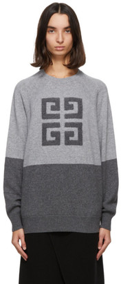 Givenchy Grey Cashmere 4G Sweater