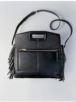 Maje Leather Shoulder Bag