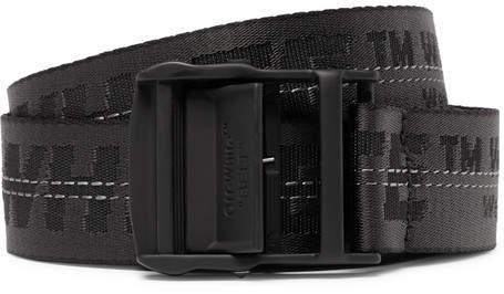 Off-White Off White 3.5cm Black Industrial Canvas Belt - Men - Black