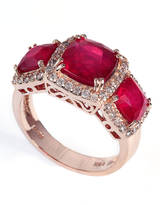 EFFY COLLECTION 14Kt. Rose Gold Ruby & Diamond Ring