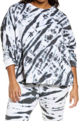Zella Coastal Tie Dye Sweatshirt