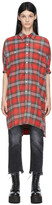 Thumbnail for your product : R 13 Red Plaid Oversized Shirt Dress