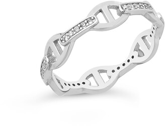 Sterling Forever Sterling Silver Anchor Chain Ring