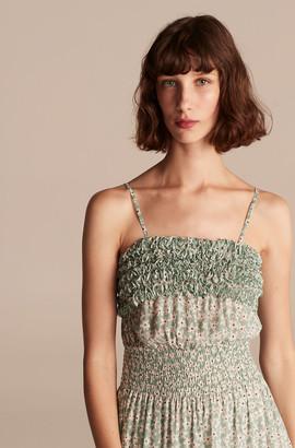 Rebecca Taylor Star Fleur Smock Waist Tank Dress