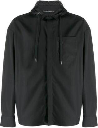 Neil Barrett Hooded Zip-Up Shirt