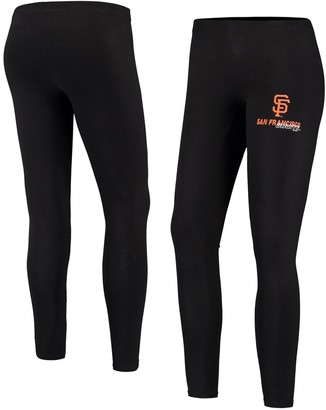 Women's Concepts Sport Black San Francisco Giants Logo Fraction Leggings