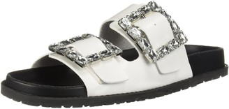 LFL by Lust for Life Women's LL-Keeper Slide Sandal White Polyurethane 8 Medium US