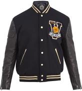 Junya Watanabe Van-appliqué wool-blend bomber jacket