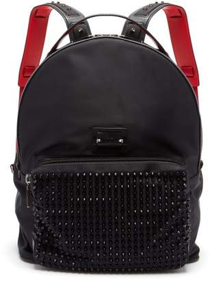 Christian Louboutin Backloubi Spikes Nylon Backpack - Mens - Black
