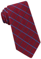 Black Brown 1826 Microdot Grid Silk Tie