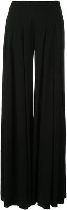 Oscar de la Renta Pleated Flared Trousers