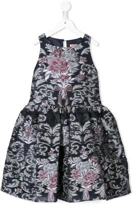 Marchesa Notte Mini Gwen jacquard dress