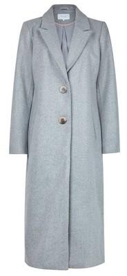 Dorothy Perkins Womens Vila Grey Melange Long Coat, Grey