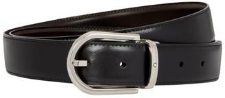 Montblanc Leather Horseshoe Belt