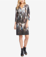 Karen Kane Printed Zip-Front Dress