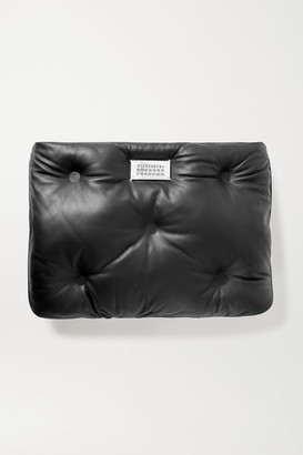 Maison Margiela Glam Slam Quilted Leather Clutch - Black