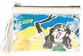 Lanvin Coated Canvas Clutch