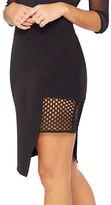 Miss Selfridge Mesh Panel Mini Skirt