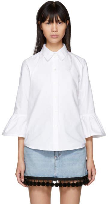 Marc Jacobs White Ruffle Sleeves Shirt