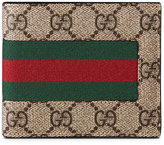 Gucci Web GG Supreme wallet - men - Leather/Canvas - One Size