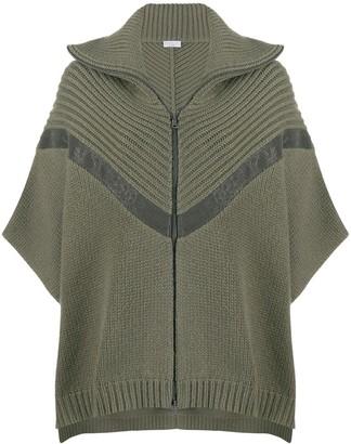 Brunello Cucinelli Knitted Cape Jumper