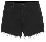 Rag & Bone Cut Off Embellished Denim Shorts