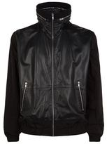 Mcq Alexander Mcqueen Leather Hooded Jacket