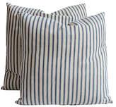 One Kings Lane Vintage Striped Ticking Pillows