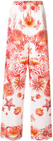 Roberto Cavalli coral reef flared trousers