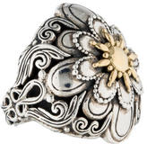 Konstantino Two-Tone Flower Bombe Ring