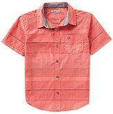 Calvin Klein Big Boys 8-20 Bold-Horizontal-Stripe Chambray Shirt