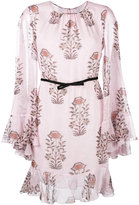 Giambattista Valli floral print longsleeved dress - women - Cotton/Viscose/Silk - 46