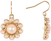 Carolee Round Faux Pearl Drop Earrings