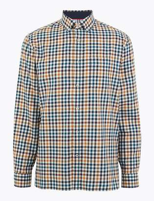 Marks and Spencer Cotton Blend Checked Shirt