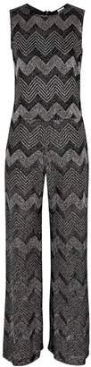 M Missoni Zigzag Metallic-knit Jumpsuit