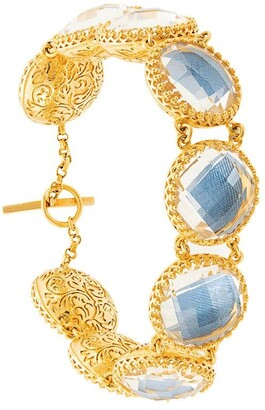 Larkspur & Hawk Olivia Auzre Foil Button bracelet