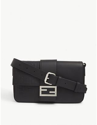 Fendi FF-clasp leather Baguette Bag