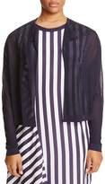 sheer navy cardigan - ShopStyle