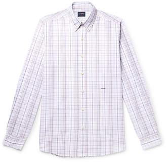 Noah Button-Down Collar Checked Cotton-Poplin Shirt