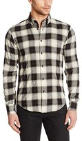 Naked & Famous Denim Men's Herrringbone Ombre Check Regular Fit Button Down Shirt