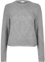 River Island Womens Silver stitch sweater