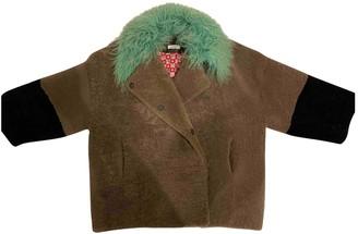 Saks Potts Beige Fur Jacket for Women