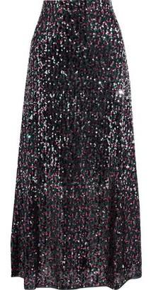 Antik Batik Lazer Sequined Tulle Maxi Skirt