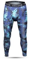 Bifrost Mens Camouflage Sports Running Basketball Compression Tight Leggings Pants(Style: Size:L)