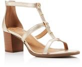 Jack Rogers Julia Studded T Strap Block Heel Sandals
