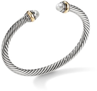 David Yurman Cable Classic Bracelet with Pearl and 14K Yellow Gold/5mm