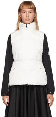 Moncler White Down Ana Vest