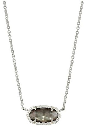 Kendra Scott Elisa Necklace (Rhodium/Crystal) Necklace