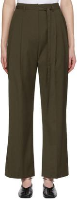 LE 17 SEPTEMBRE LE17SEPTEMBRE Khaki Belted Tuck Trousers